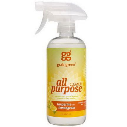 GrabGreen, All Purpose Surface, Tangerine with Lemongrass 473ml