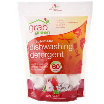 GrabGreen, Automatic Dishwashing Detergent, Red Pear with Magnolia 1080g