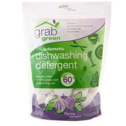 GrabGreen, Automatic Dishwashing Detergent, Thyme with Fig Leaf 1080g