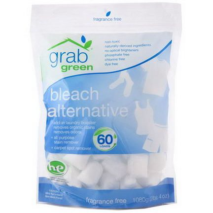 GrabGreen, Bleach Alternative, Fragrance Free, 60 Loads 1080g