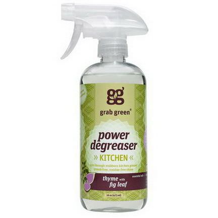 GrabGreen, Kitchen Power Degreaser, Thyme with Fig Leaf 473ml