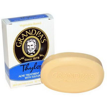 Grandpa's, Thylox, Acne Treatment Soap with Sulfur 92g