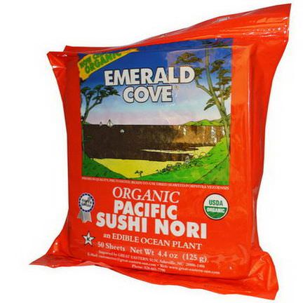 Great Eastern Sun, Emerald Cove, Organic Pacific Sushi Nori, 50 Sheets 125g