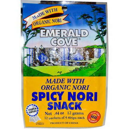 Great Eastern Sun, Emerald Cove, Spicy Nori Snack, 12 Packets of 4 Strips Each 12g