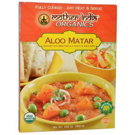 Great Eastern Sun, Mother India Organics, Aloo Matar, Medium Spicy 300g