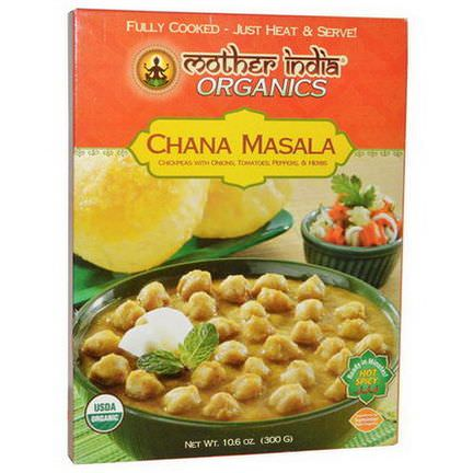 Great Eastern Sun, Mother India Organics, Chana Masala, Hot Spicy 300g