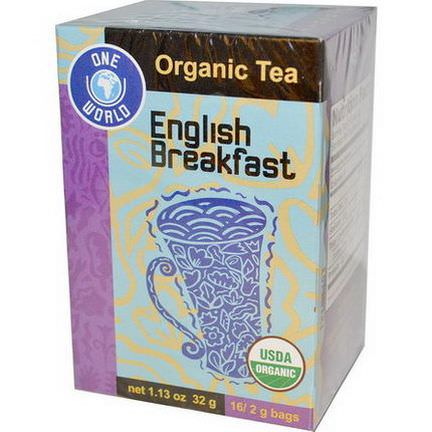Great Eastern Sun, One World, Organic English Breakfast Tea, 16 Tea Bags, 2g Each