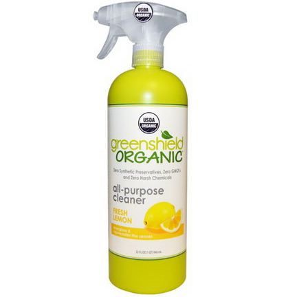 GreenShield Organic, All-Purpose Cleaner, Fresh Lemon 946ml