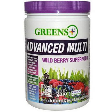 Greens Plus, Advanced Multi, Wild Berry Superfood 267g Greens Powder