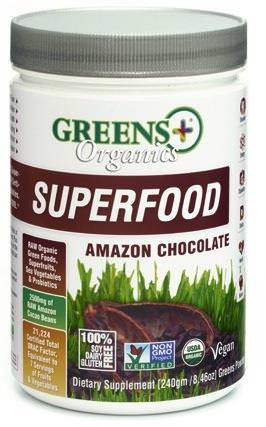 Greens Plus, Organics Superfood, Amazon Chocolate 240g