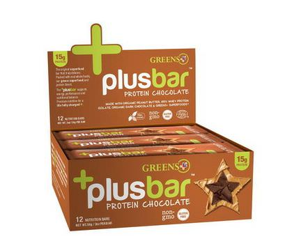 Greens Plus, Protein Chocolate, 12 Bars 59g Each