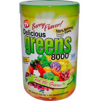 Greens World Inc. Delicious Greens 8000, Berry Flavor 300g