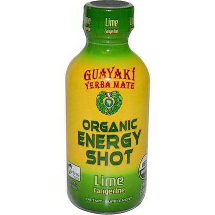 Guayaki, Yerba Mate, Organic Energy Shot, Lime Tangerine 59ml