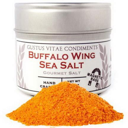 Gustus Vitae, Condiments, Gourmet Salt, Buffalo Wing Sea Salt 87g