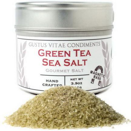 Gustus Vitae, Condiments, Gourmet Salt, Green Tea Sea Salt 111g