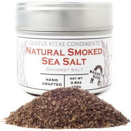 Gustus Vitae, Condiments, Gourmet Salt, Natural Smoked Sea Salt 102g