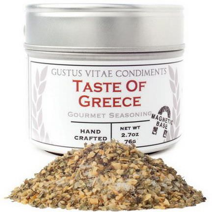 Gustus Vitae, Taste of Greece, Gourmet Seasoning 76g