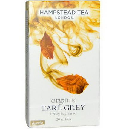 Hampstead Tea, London, Organic Earl Grey, 20 Sachets 40g