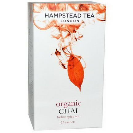 Hampstead Tea, Organic Chai, Indian Spice Tea, 25 Sachets 50g