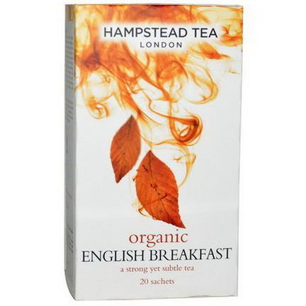 Hampstead Tea, Organic English Breakfast Tea, 20 Sachets 40g