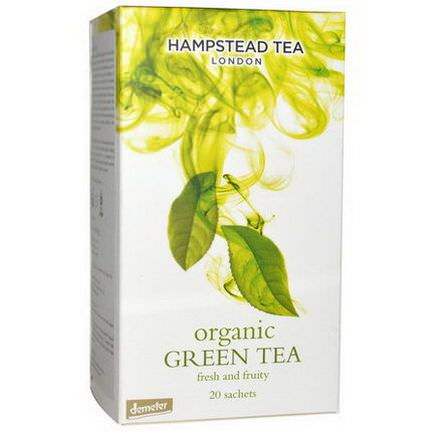 Hampstead Tea, Organic, Green Tea, 20 Sachets 40g