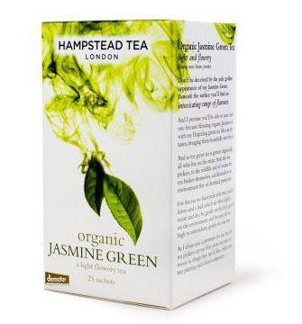 Hampstead Tea, Organic, Jasmine Green Tea, 20 Sachets