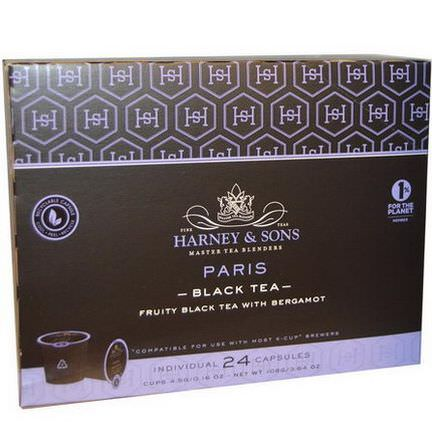 Harney&Sons, Paris, Black Tea, 24 K-Cups 4.5g Each