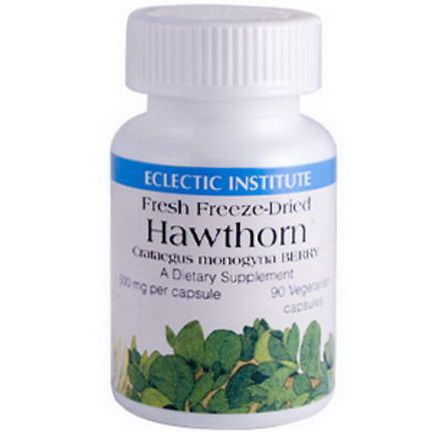 Eclectic Institute, Hawthorn, 500mg, 90 Veggie Caps