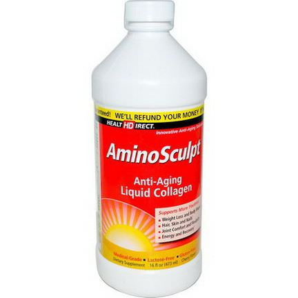 Health Direct, AminoSculpt, Anti-Aging Liquid Collagen, Cherry Flavor 473ml