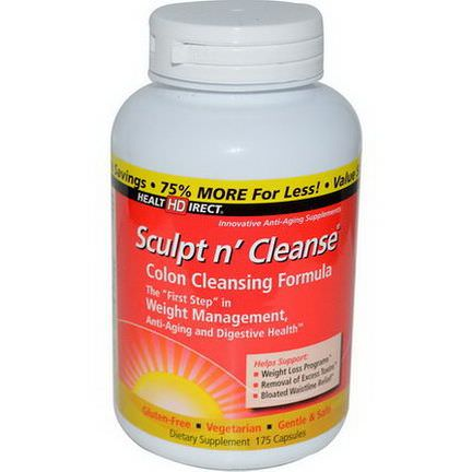 Health Direct, Sculpt n'Cleanse, 175 Capsules