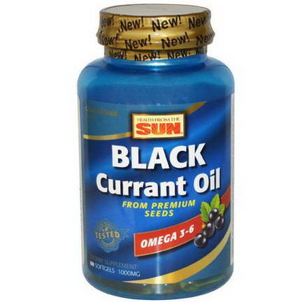 Health From The Sun, Black Currant Oil, 1,000mg, 60 Softgels