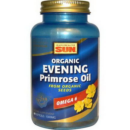 Health From The Sun, Evening Primrose Oil, 1300mg, 60 Softgels