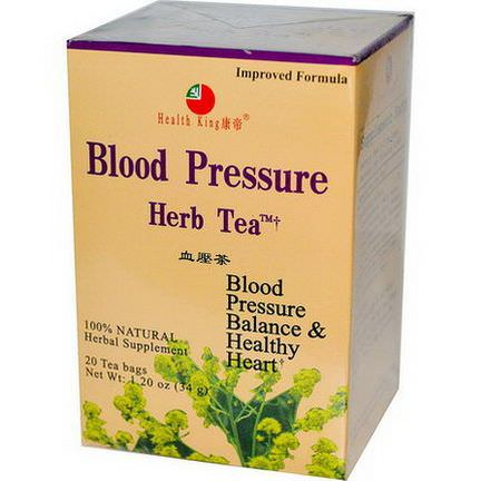 Health King, Blood Pressure Herb Tea, 20 Tea Bags 34g