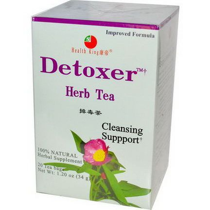 Health King, Detoxer Herb Tea, 20 Tea Bags 34g