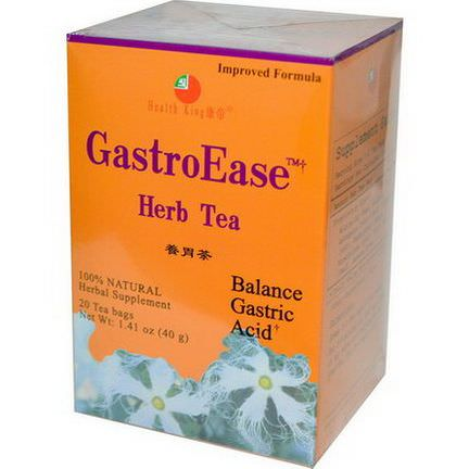 Health King, GastroEase Herb Tea, 20 Tea Bags 40g