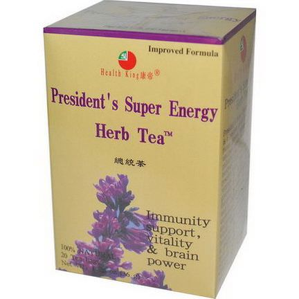 Health King, Herb Tea, President's Super Energy, 20 Tea Bags 36g