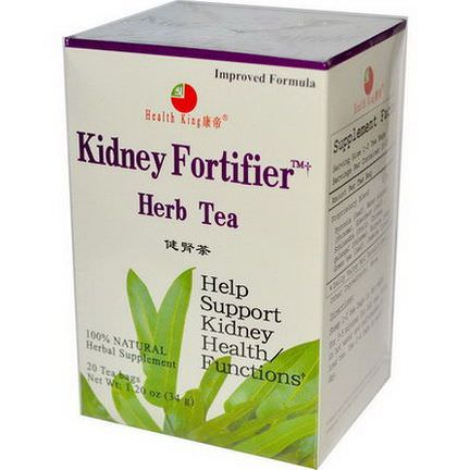 Health King, Kidney Fortifier Herb Tea, 20 Tea Bags 34g