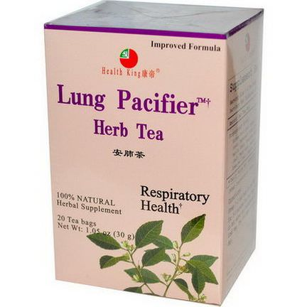 Health King, Lung Pacifier Herb Tea, 20 Tea Bags 30g