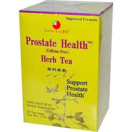 Health King, Prostate Health Herb Tea, Caffeine-Free, 20 Tea Bags 30g