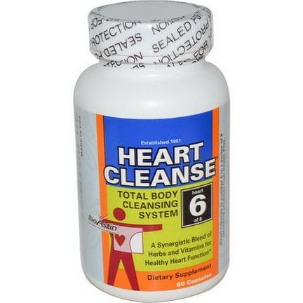 Health Plus Inc. Heart Cleanse, Total Body Cleansing System, Heart 6 of 8, 90 Capsules