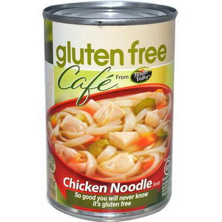Health Valley, Gluten Free Cafe, Chicken Noodle Soup 425g