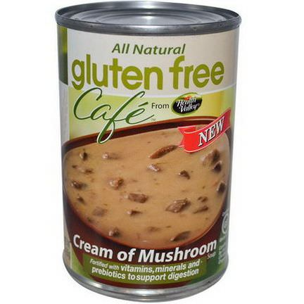 Health Valley, Gluten Free Cafe, Cream of Mushroom Soup 425g