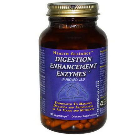 HealthForce Nutritionals, Digestion Enhancement Enzymes, 120 VeganCaps