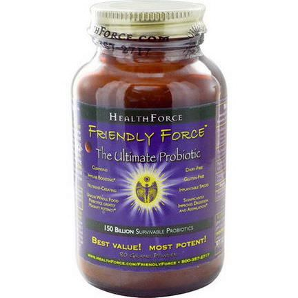 HealthForce Nutritionals, Friendly Force, The Ultimate Probiotic Powder, 80g