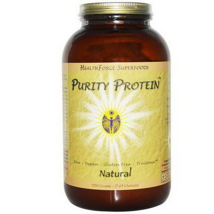 HealthForce Nutritionals, Purity Protein, Natural 500g