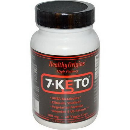 Healthy Origins, 7-Keto, 100mg, 60 Veggie Caps
