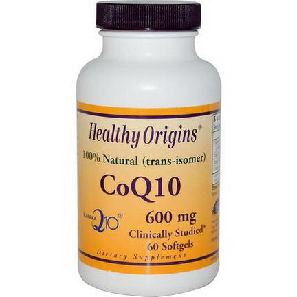 Healthy Origins, CoQ10 Kaneka Q10, 600mg, 60 Softgels