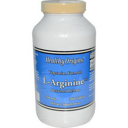 Healthy Origins, L-Arginine-SR, 350mg, 360 Tablets