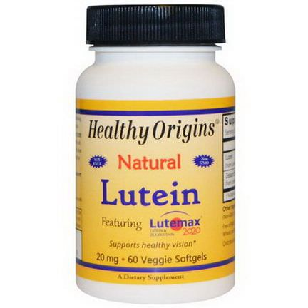 Healthy Origins, Lutein, Natural, 20mg, 60 Veggie Softgels