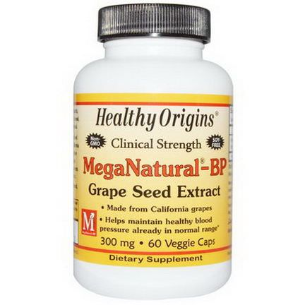 Healthy Origins, MegaNatural-BP Grape Seed Extract, 300mg, 60 Veggie Caps